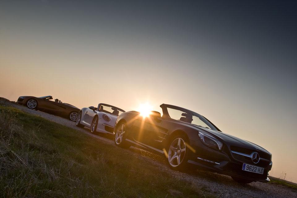 Audi R8-Mercedes Benz SL-Porsche 911