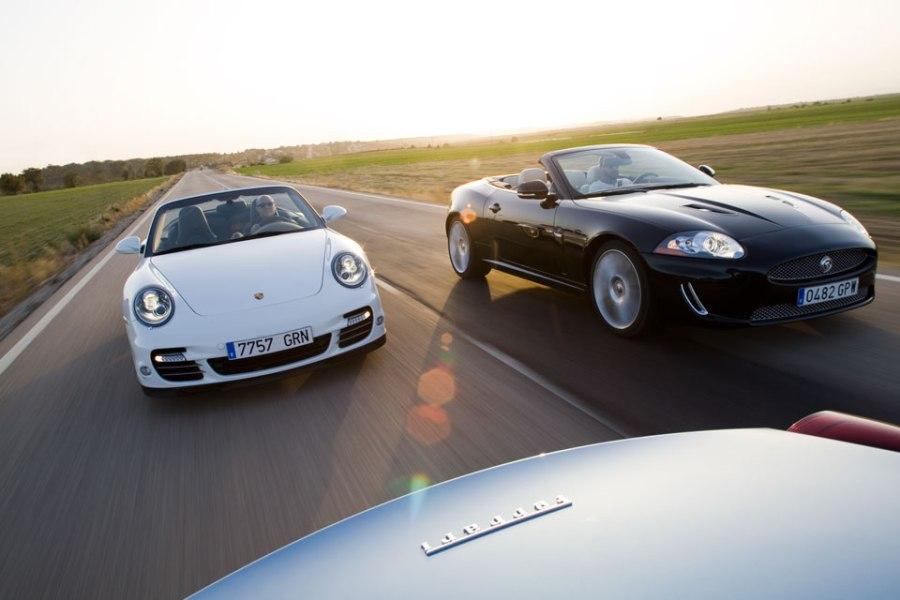 Porsche 911- Ferrari California- Jaguar XKR