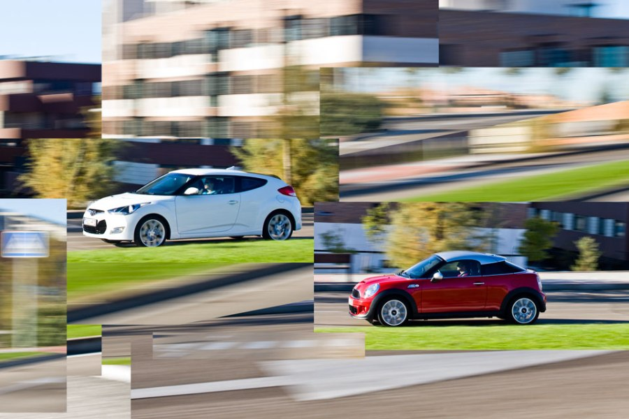 Hyundai Veloster vs Mini Coupe