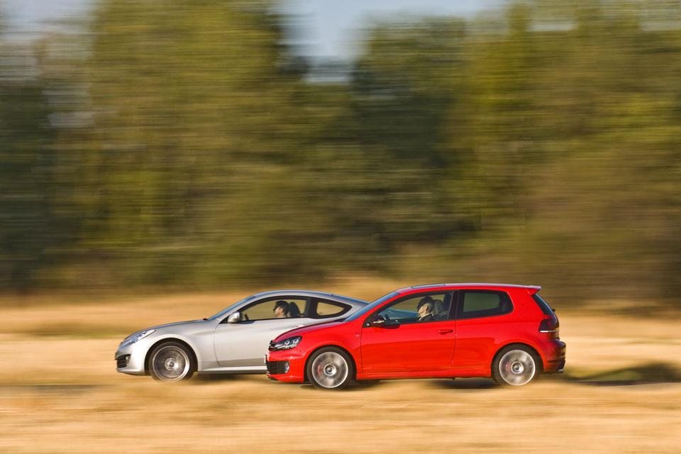 VW Golf-Hyundai Genesis
