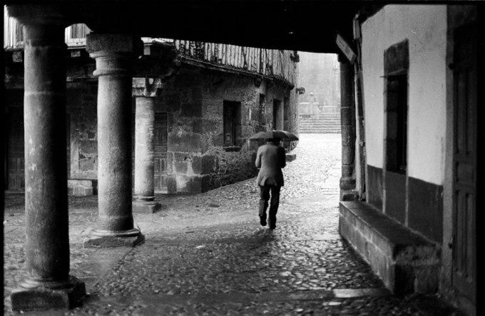 La lluvia. Años 80.