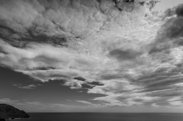 Nubes sobre el mar Mediterraneo. Marzo de 2018.