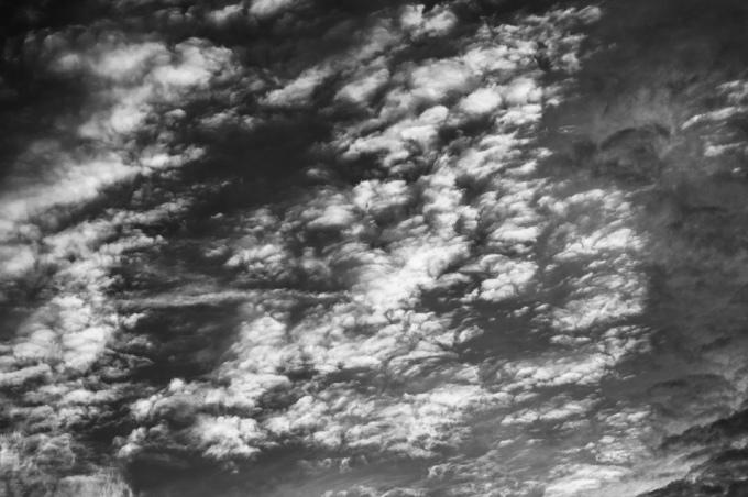 Nubes en Madrid.
