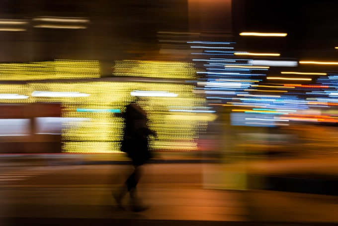 El caminante navideño, Madrid.